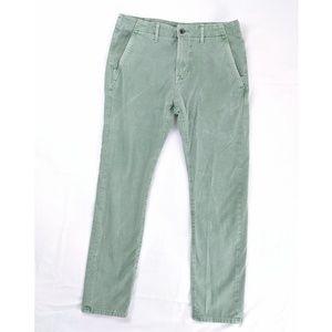Levi's Green Khaki Slim Fit Acid Wash Pants